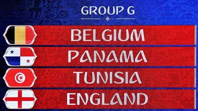 FIFA World Cup 2018 Group G