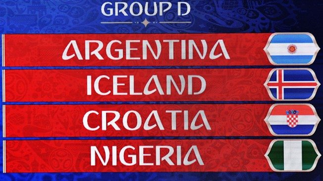 2018 World Cup Draw Is Complete, List of 2018 FIFA World Cup Death Group 1