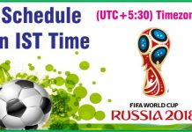 2018 FIFA World Cup Schedule, Time Table in IST