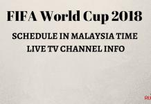 FIFA WORLDCUP 2018 MALAYSIA TIMING