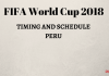 Ang FIFA World Cup 2018 Schedule sa Peru