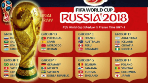 A new season of FIFA World Cup is going to start in the ongoing year and it will be the 21st season of the most biggest football competition in the World. The competition used to take place in every four years later. Besides, the upcoming season of World Cup will take place at Russia and so, it is called as Russia World Cup as well. Total 32 teams have confirmed their entrance into the competition and already the schedule of the tournament has released. Here total thirty two teams are divided into eight groups and totally they will play 64 matches in the upcoming season including group stage and knockout competitions. Let's take a look below where we present the complete schedule of World Cup 2018.