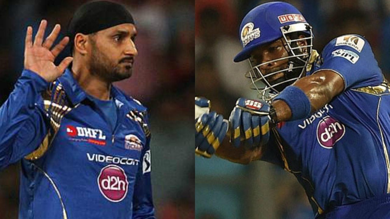 Harbhajan vs Pollard