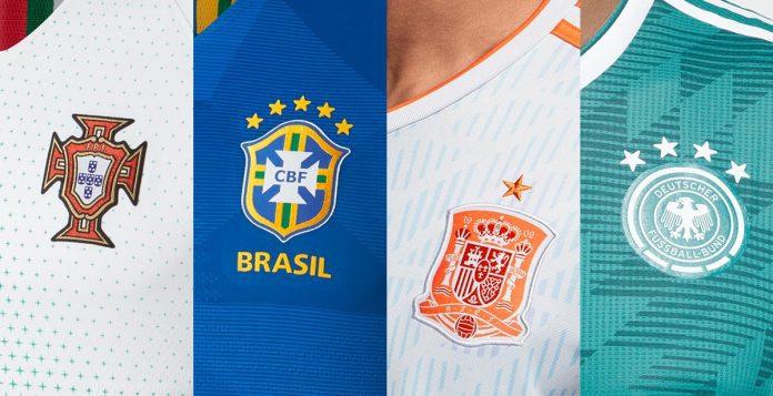 fd86e333a FIFA World Cup 2018 Kits  Home   Away Jerseys of All 32 teams ...