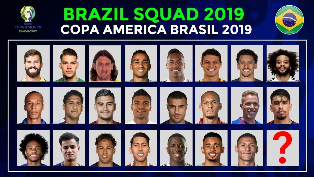 Copa America 2019 Brazil Football team Squad