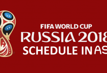 FIFA World Cup 2018 Match Schedule in Arabia Standard Time