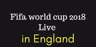 Fifa world cup 2018 live in England