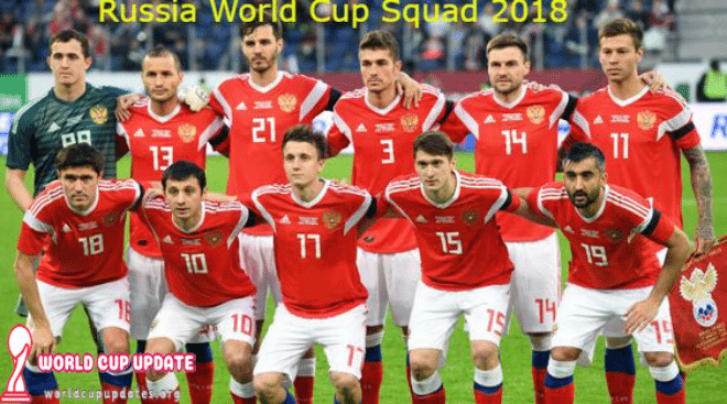 Russia World Cup 2018 Squad