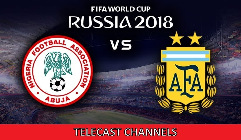 Argentina Vs Nigeria Telecast Channels