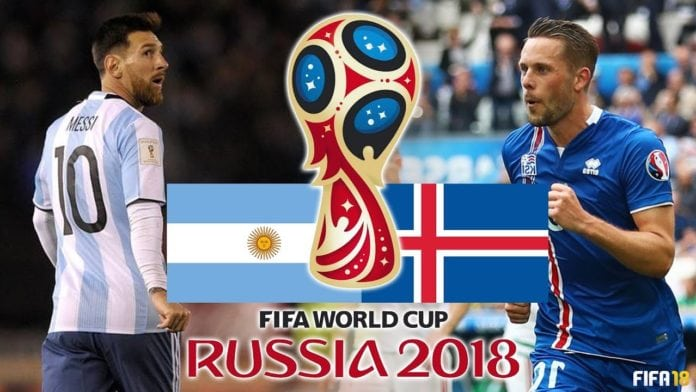 argentina vs iceland fifa world cup live 2018