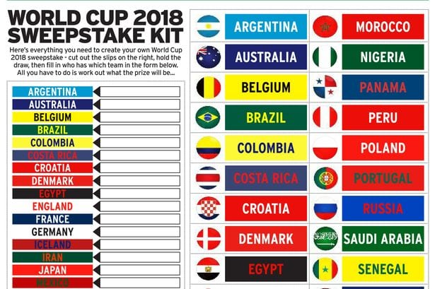 Download your World Cup 2018 sweepstake kit