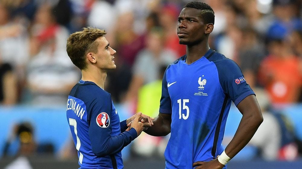 Paul Pogba and Antoine Griezmann