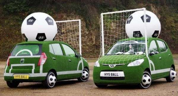 hyundai football themed cars