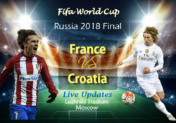 France vs Croatia Live Stream FIFA World Cup 2018 The Final Match