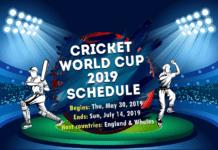 CWC 2019 Schedule