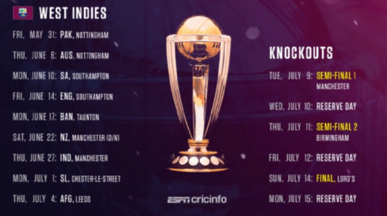 Cricket-World-Cup-Schedule-2019-West-Indies-Quarter-Final-Semi-Final-and-Final-matches