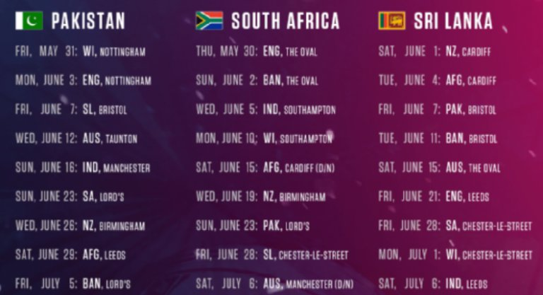 ICC-Cricket-World-Cup-Schedule-2019-Pakistan-South-Afica-and-Sri-Lanka