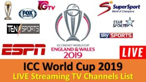 ICC World Cup 2019 Live Telecast