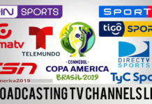 Copa America 2019 Broadcasting Tv Channels Rights