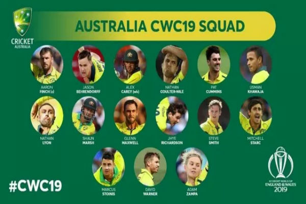 Cricket World Cup 2019 Australia Squad