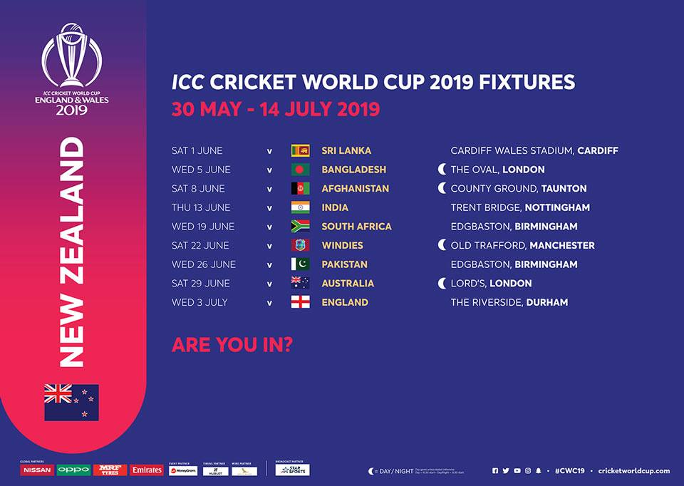 New Zealand Cricket Team Schedule Schedule