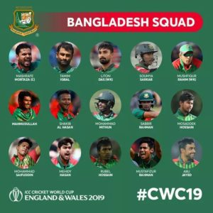 World Cup Bangladesh Team Squad