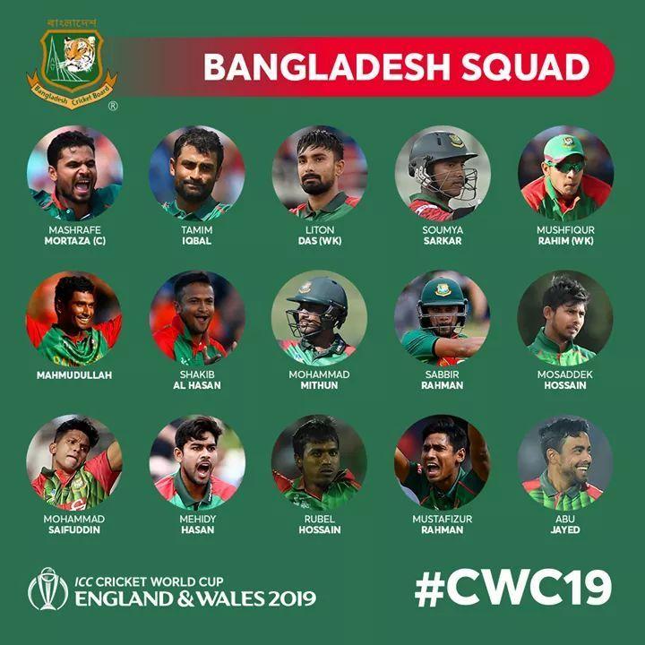 World Cup Bangladesh Team Squad