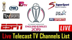 ICC Cricket World Cup 2019 Broadcast Channel