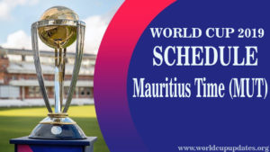 Cricket World Cup 2019 Schedule Mauritius Time