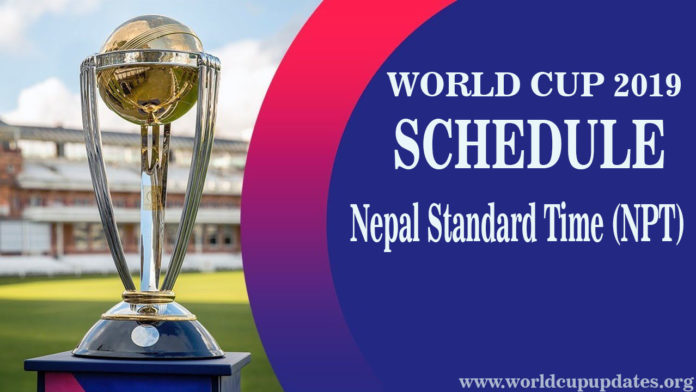 Cricket World Cup 2019 Schedule In Nepal Time