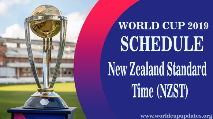 Cricket World Cup 2019 Schedule New-Zealand Time