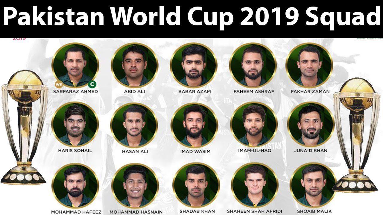Pakistan Squad World Cup 2019