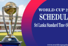 Cricket World Cup 2019 In Sri-Lanka Time
