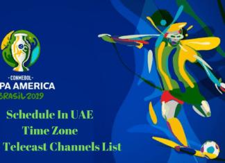 Copa America 2019 Schedule IN UAE Time Zone
