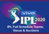 vivo ipl2020 schedule
